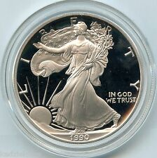 1990 American Eagle Fine Silver Dollar PROOF Coin - 1 oz bullion US Mint - KU849