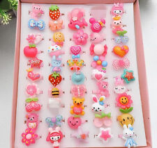 20Pcs Mixed Lots Cute Cartoon Children/Kids Resin Lucite Rings Gift Wholesale