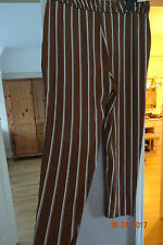 MARKS & SPENCER CINNAMON STRIPE TAPERED PANTS SZE 14 LONG RRP £45CLEARANCE