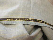 LEGGERO VERDE BLU / grigio a quadri prodotto in Inghilterra lana/lino da uomo