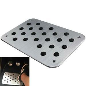 Universal Aluminum Truck Car Floor Mat Carpet Heel Plate Foot Pedal Rest 30x20cm