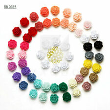10/24pcs Resin Flatback Cabochons Cameo Flower Embellishment 12mm Free Shipping