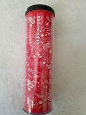 NEW Starbucks Christmas Holiday 2018 Red White Deer Acrylic Travel Tumbler 16oz