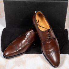 NWB $1975 KITON Brown Half-Brogue Shoes 9.5UK/10.5US/43.5EU EE Width