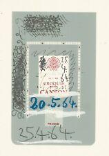 PICASSO, LE GOUT DU BONHEUR, original lithograph, plate# color cover / 25.4.64