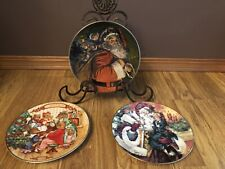 Lot Set of 3 Avon Annual Christmas Collector Plates 1987 1989 1994 - Excellent