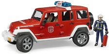 Bruder Jeep Wrangler Unlimited Rubicon Fire Department Car with Fireman 02528
