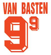Holland Van Basten Nameset 1992 Shirt Soccer Number Letter Heat Print Football A