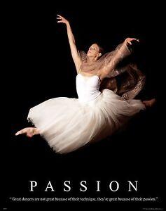 Ballet Dance Studio Motivational Poster Art Print Shoes Flats Tutu Leotard Decor