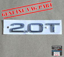 Véritable Audi 2.0 T badge Couvercle Arrière Queue gate boot Chrome Emblème 8h0853743h