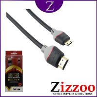 HDMI TO MINI HDMI CABLE 3 METRES GOLD PLATE CONNECTORS FOR 2K 4K 3D AND SMART TV