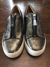 Frye Lena Front Zip Low Comfort Sneaker- Women's Size 7.5 Gunmetal