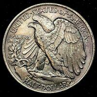 1944 P - GEM BU. Toning, Walking Liberty Silver Half Dollar US Coin.#3.1