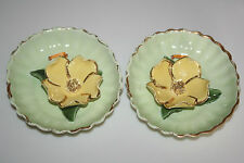 New listing Vtg Ida California Pottery Sculpted Flower Floral Wall Plaques Pacific Dogwood
