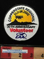 2002 30th AZ COPPERSTATE Aircraft Patch EAA FLY-IN REGIONAL VOLUNTEER Plane 61S