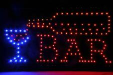 Open Bar Led Neon Business Motion Light Sign. On/off with Chain 19*10*1