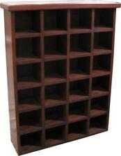 24 Section CD Storage Unit Solid Mahogany In Antique Style H154 x W100 x D20cm