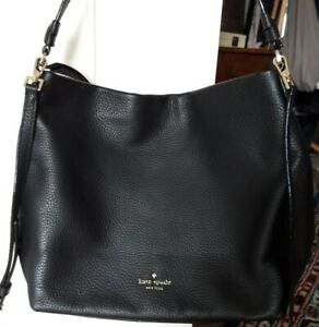 Kate Spade New York Leder Hobo Bag schwarz