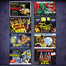 Hammer Horror classic Film Poster Set of 8 large fridge magnets No.2