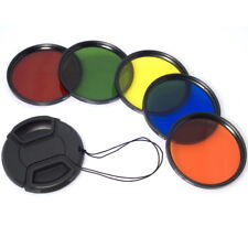 52mm Color Filter Blue Yellow Orange Red Green for Nikon D5100 D3200 D3100 LF68