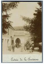 Belgique, La Louvière, Entrée de la Fontaine  Vintage print.  Tirage citrate