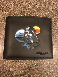 COACH Star Wars DARTH VADER Men's 3-In-1 Leather Wallet NWT!