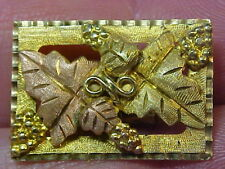"""BLACK HILLS GOLD BOLO SLIDE IN ROSE,GREEN & YELLOW GOLD 10k & 12k GOLD 1""""X5/8th"""""""