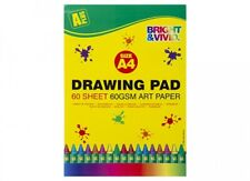 A4 ARTIST SKETCH 60 GSM DRAWING BOOK PAD BOOKS PADS 60 SHEETS PER PAD ART PAPER