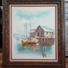 """Luini Nautical Oil On Canvas Signed Painting 28"""" X 32"""""""