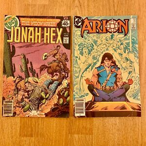 DC Comic Books Vintage Arion 21 1984 Lord Of Atlantis Jonah Hex 25 1979 Widow Ma
