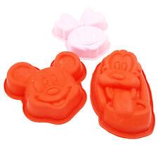 Lot de 3 moules 100% Silicone - Disney - Produits officiels - Environ 15cm