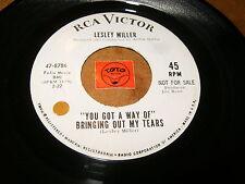 LESLEY MILLER - YOU GOT A WAY OF BRINGING OUT MY TEARS   / LISTEN - SOUL POPCORN