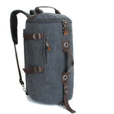 Large Men's Canvas Backpack Shoulder Bag Sports Travel Duffle Bag Hand Luggage