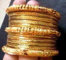 22K Gold Plated Designer 10 Pcs 2.4'' Bangles Bracelet Churi Party Set