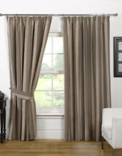 "Opulence Pencil Pleat Curtains 65 x 54"" Natural NEW (N*)"