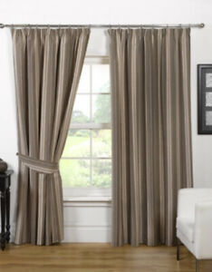 """Opulence Pencil Pleat Curtains 65 x 54"""" Natural NEW (N*)"""
