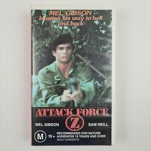 Attack Force Z VHS Tape - Mel Gibson - Sam Neill - TRACKED POST