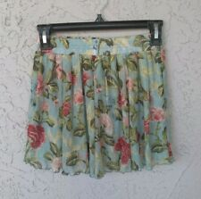 NWT $89 DENIM & SUPPLY RALPH LAUREN Lined Lace Floral Skirt XS Blue Pink