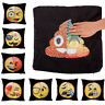 Cute Emoji Mermaid Pillow Sequins Cover Reversible Sofa Cushion Case Funny Decor