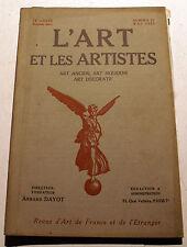 ART DECO/L'ART ET LES ARTISTES/1922/N°27/T.KLINGSOR/P.PAULIN/HALFDAN EGEDIUS