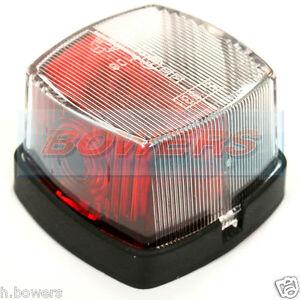 HELLA 883 RED WHITE CLEAR SQUARE SIDE MARKER LAMP LIGHT STERLING SWIFT CARAVAN