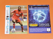 RYAN BABEL LIVERPOOL REDS NED FOOTBALL CARDS PANINI CHAMPIONS LEAGUE 2007-2008