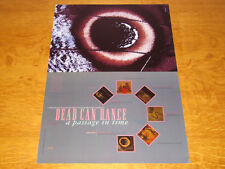 DEAD CAN DANCE - A PASSAGE IN TIME - ORIGINAL UK 4AD PROMO POSTER