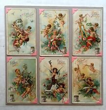 Set of 6 - 1900 Liebig Victorian Ad Trade Cards Fine Arts Series