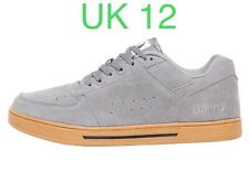 DuFFS Mens KCK Suede Gum Soled Skate Shoes Grey UK 12 Skater Board Trainers