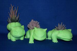 Bulbasaur, Ivysaur & Venusaur ~ POKEMON ~ Flower Succulent Pot Planter Figures