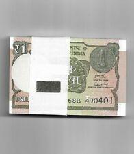 INDIA~1 RUPEE ~ BUNDLE OF 100 NOTES ~ SHUBASH GARG ~ 2019 ~ RARE