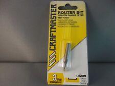 Router Bit- 3mm Straight SOLID Tungsten 1/4shk  CRAFTMASTER Mfg in NZ.  65% OFF