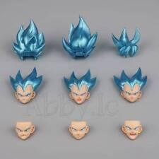 SS Blue Custom Headsculpt Set for SHF S.H.Figuarts Super Saiyan Son Goku Vegeta