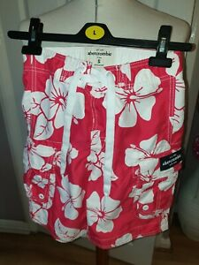 SUPERB BOYS DESIGNER ABERCROMBIE & FITCH BOARD SHORTS UK 7-8 YEARS RRP £40.00